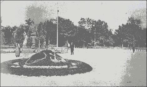 Отгороженная часть  сада («круг»)   Фото начала ХХ века